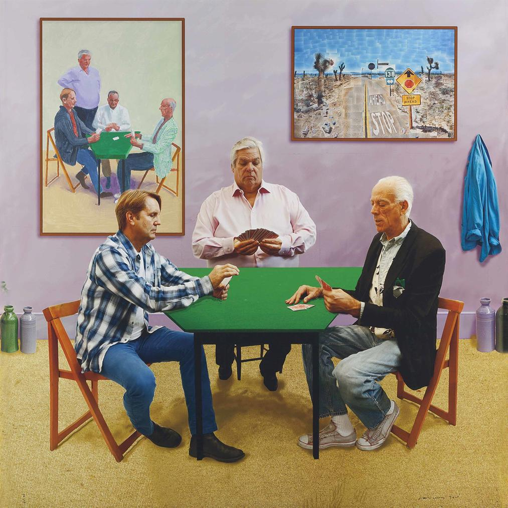 David Hockney-A Bigger Card Players-2015