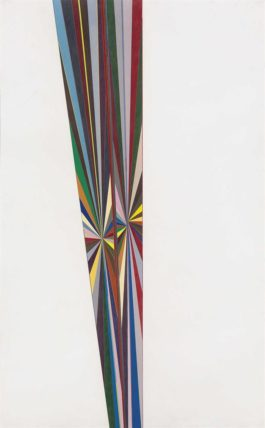 Mark Grotjahn-Untitled (Full Color Butterfly Up The Middle White Sides 748)-2008