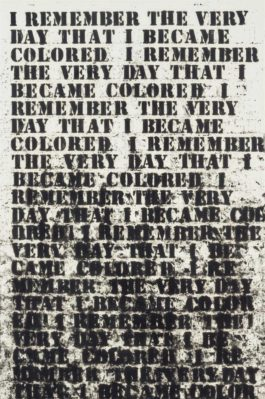 Glenn Ligon-Untitled (I Remember The Very Day...)-1992