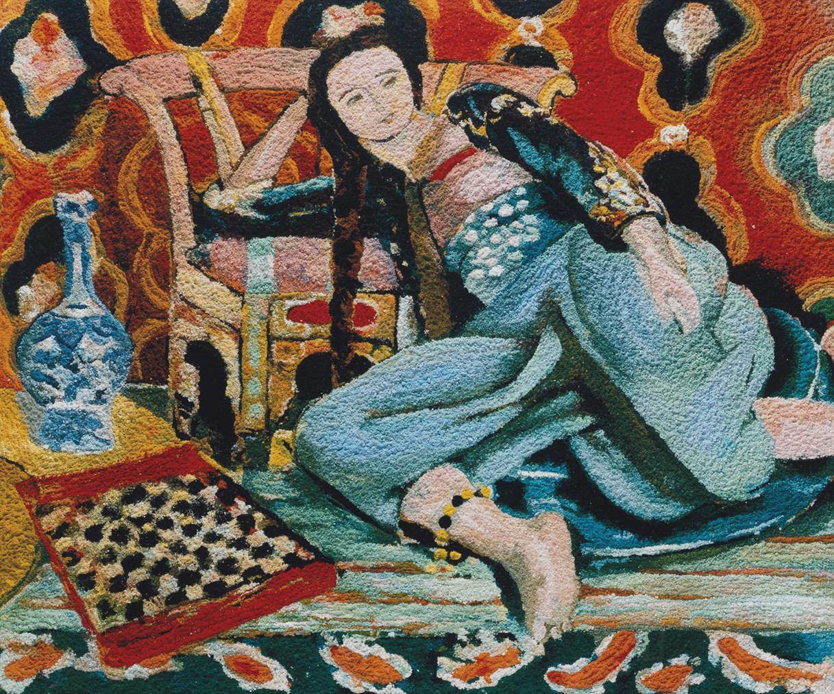 Vik Muniz-Odalisque With A Turkish Chair, After Matisse-2006
