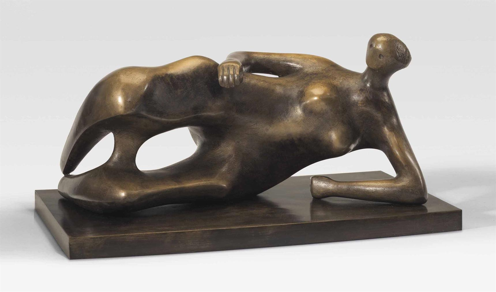 Henry Moore-Working Model For Reclining Woman: Elbow-1981