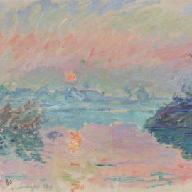Claude Monet-Coucher De Soleil A Lavacourt-1880