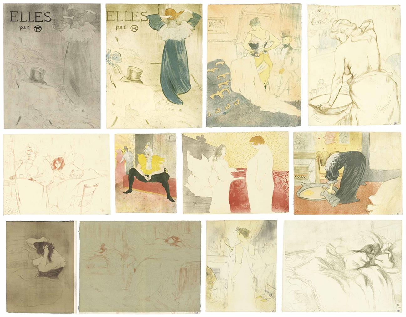Henri de Toulouse-Lautrec-Elles-