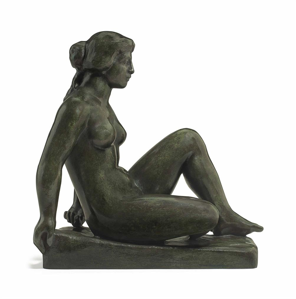 Aristide Maillol-Nymphe Assise-1952