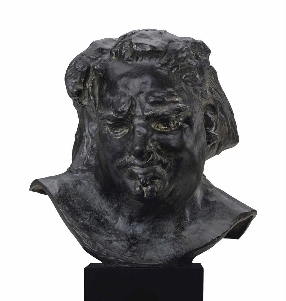 Auguste Rodin-Tete De Balzac Au Front Degage Et Au Menton Fendu Dit Aussi Tete Type H-1894