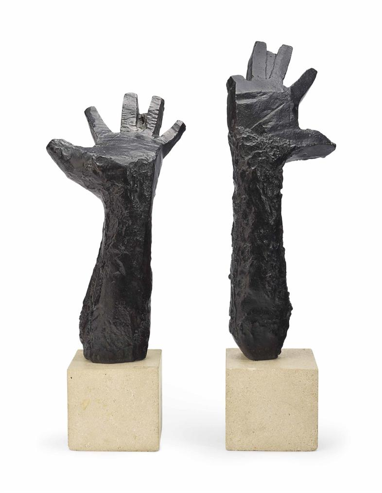 Julio Gonzalez-Main Droite Levee (No. 1); Main Gauche Levee (No. 2)-1942
