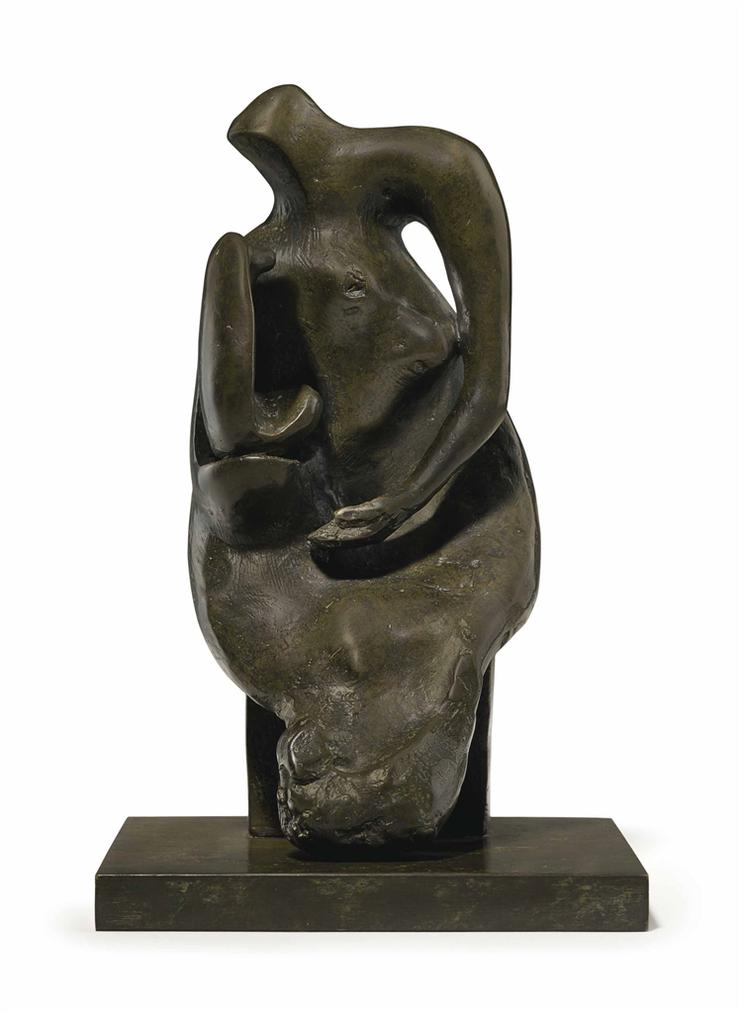 Henry Moore-Maquette For Mother And Child: Block Seat-1981