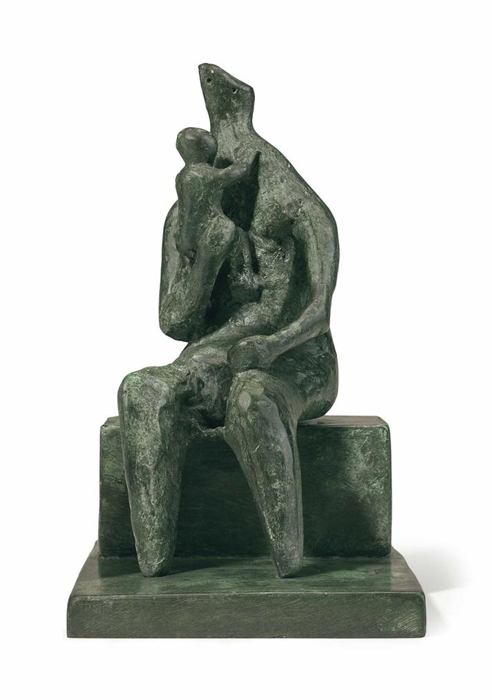 Henry Moore-Seated Mother And Baby-1978