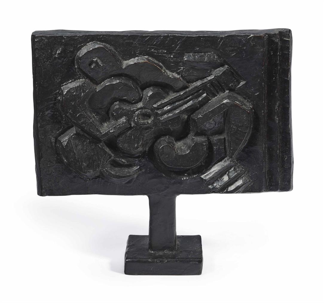 Jacques Lipchitz-Figure With Guitar: Maquette No. 2-1923