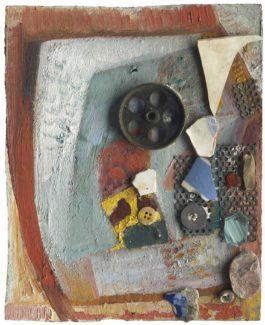 Kurt Schwitters-Ohne Titel (Merzbild Mit Porzellanscherben)-1947