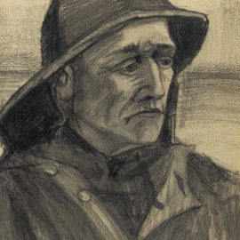 Vincent van Gogh-Hoofd Van Een Visser, Driekwart Naar Rechts Gekeerd-1883
