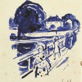 Edvard Munch-Pa Broen-1925