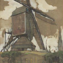 Piet Mondrian-Postmolen In Veghel-1904