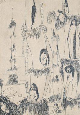 Abdel Hadi El-Gazzar - Women In Bamboo Trees-1948