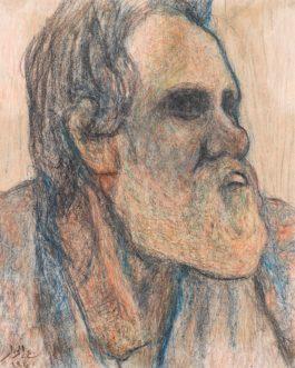 Abdel Hadi El-Gazzar - Portrait Of A Learned Man-1950