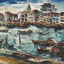 Chen Wen Hsi-Singapore River-1949