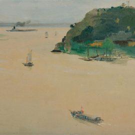 Wu Guanzhong-Old Pier At Guazhou-1963