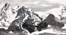 Wu Guanzhong-Yulong Mountain Under Moonlight (The Yulong Mountain In The Moonlight)-1988