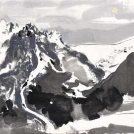 Wu Guanzhong-Yulong Mountain Under Moonlight (The Yulong Mountain In The Moonlight)-1988
