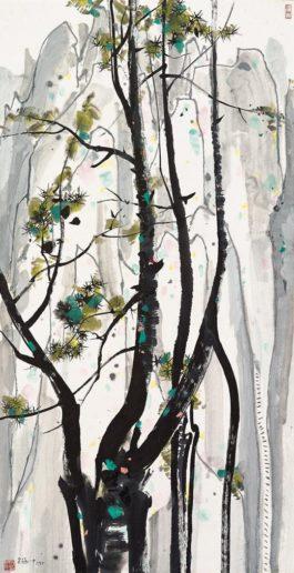 Wu Guanzhong - Magnificent Landscape-1988