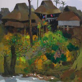 Wu Guanzhong-A Village Of Xishuangbanna-1994