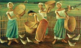 Anita Magsaysay-Ho-Women Feeding Chickens-1979