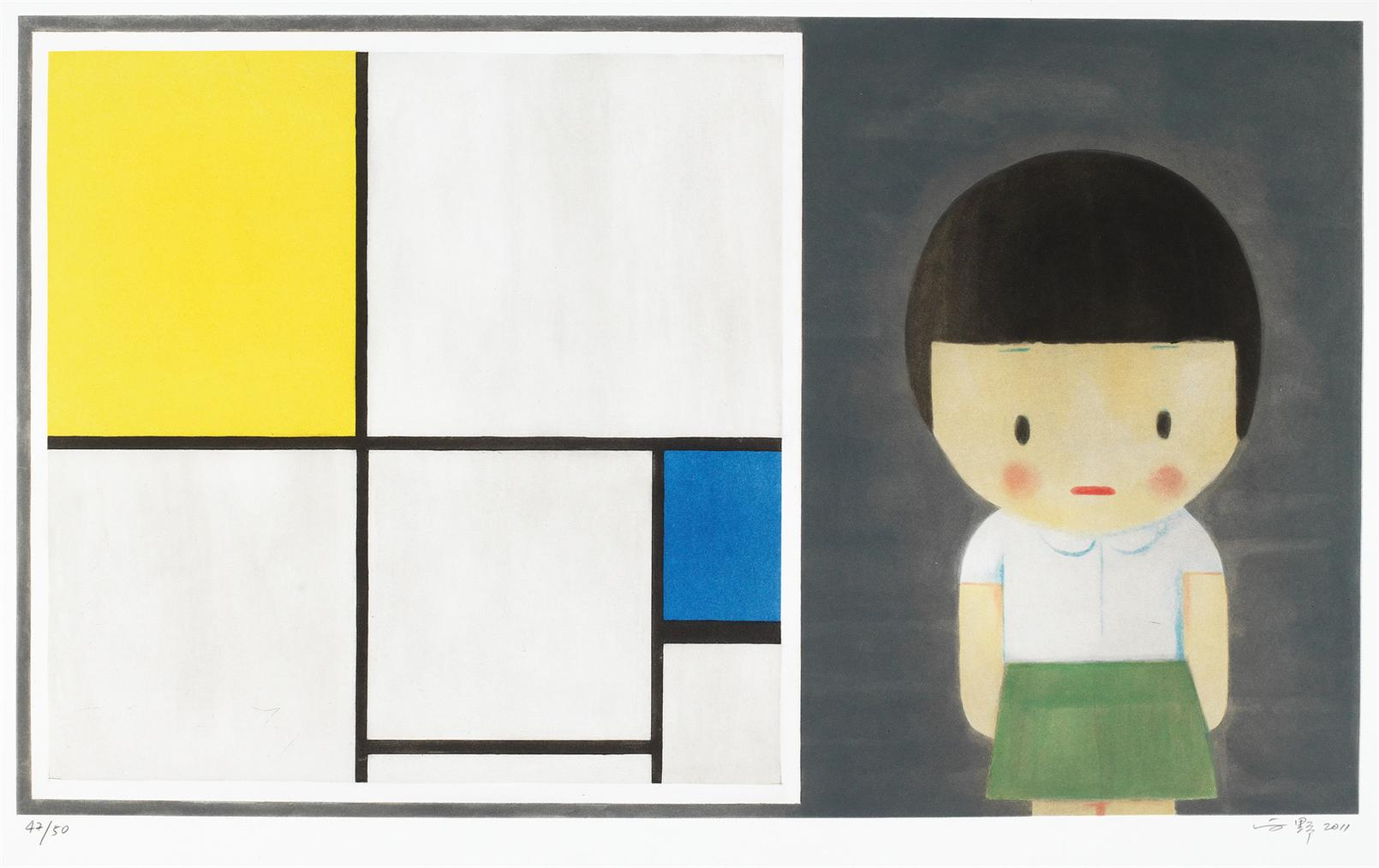 Liu Ye-Little Girl With Mondrian-2011