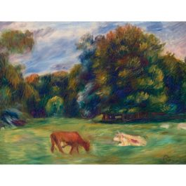 Pierre-Auguste Renoir-Vaches Au Paturage