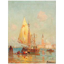 Charles Clement Calderon - Vue De Venise