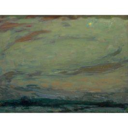 Henri Eugene Le Sidaner-Ciel De Lune Gerberoy