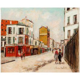 Maurice Utrillo-Rue Du Poteau