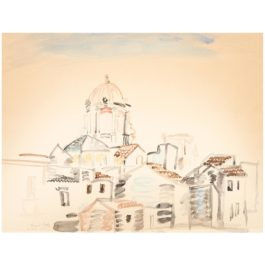 Raoul Dufy-Vue De Syracuse-1922