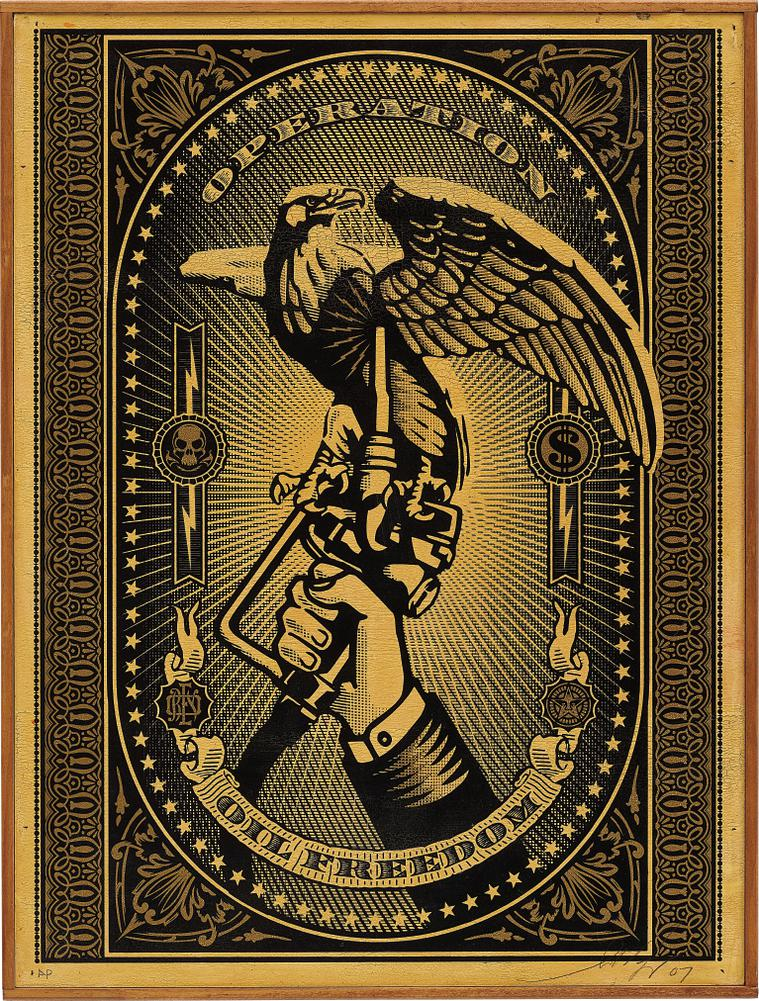 Shepard Fairey-Operation Oil Freedom-2007