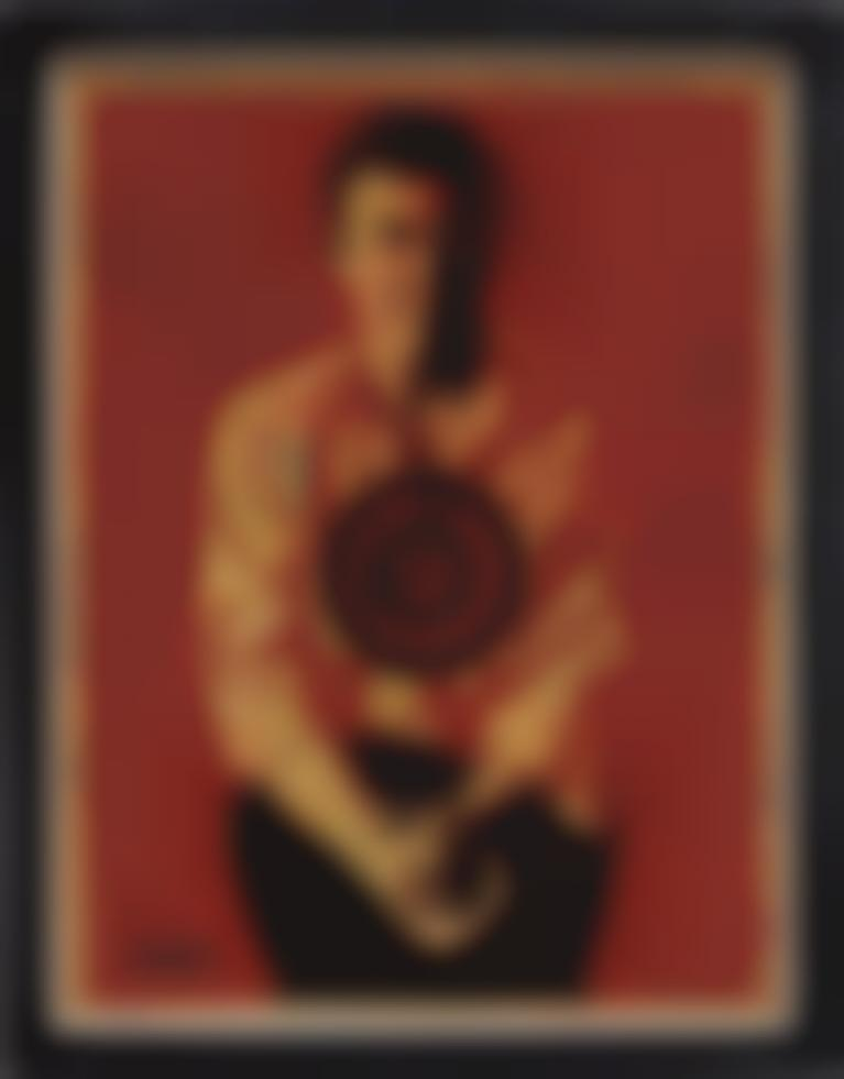 Shepard Fairey-Jasper Johns Red-2010