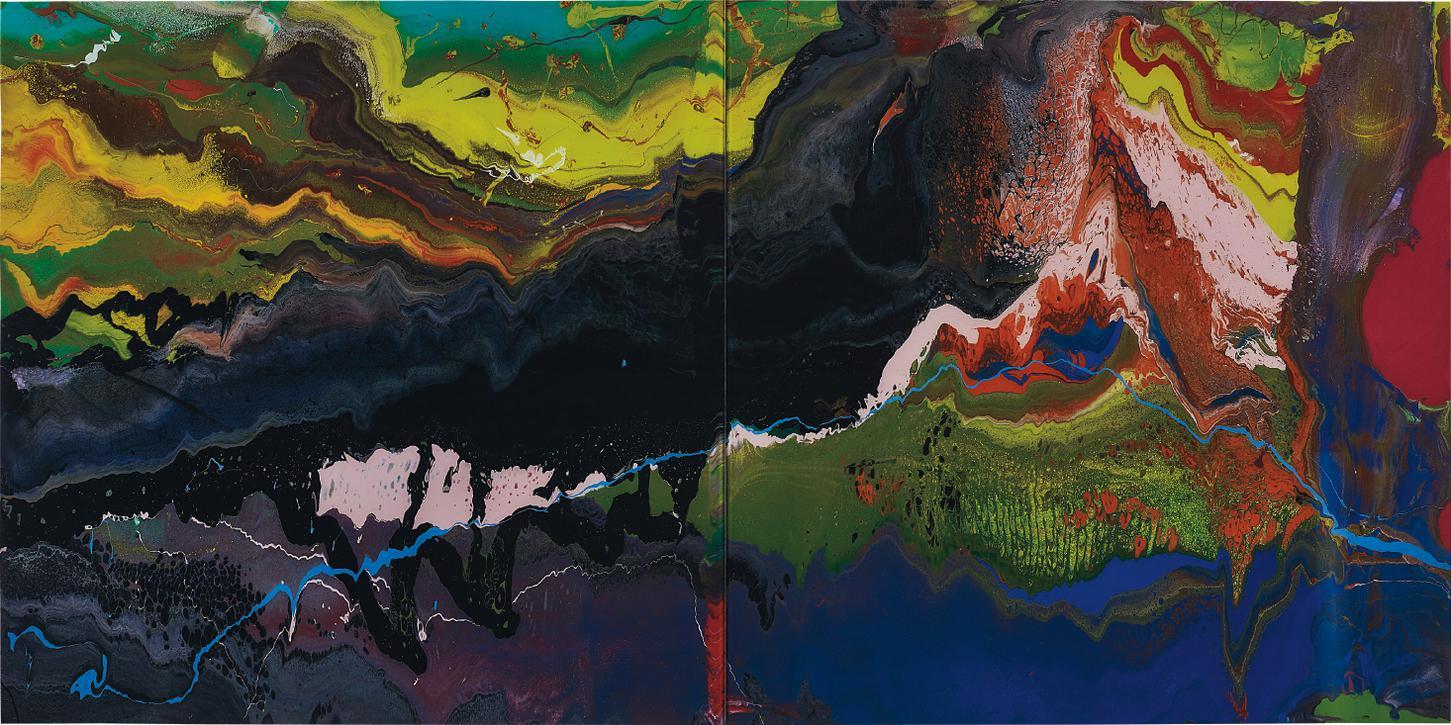 Gerhard Richter-P16 Flow-2016