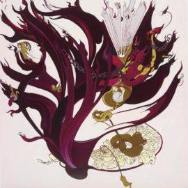Inka Essenhigh-Figure Burning In Hell-2002