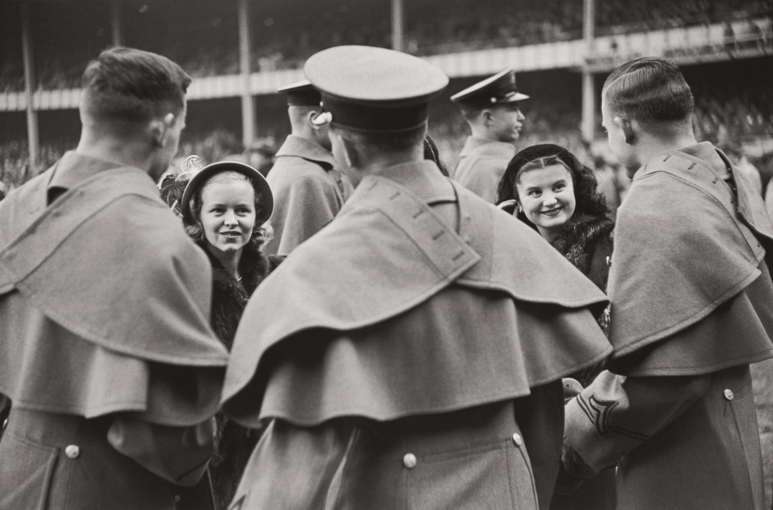 Henri Cartier-Bresson-West Point Cadets And Their Admiring Young Ladies Attend The Army Versus Notre Dame Football Game, New York-1947