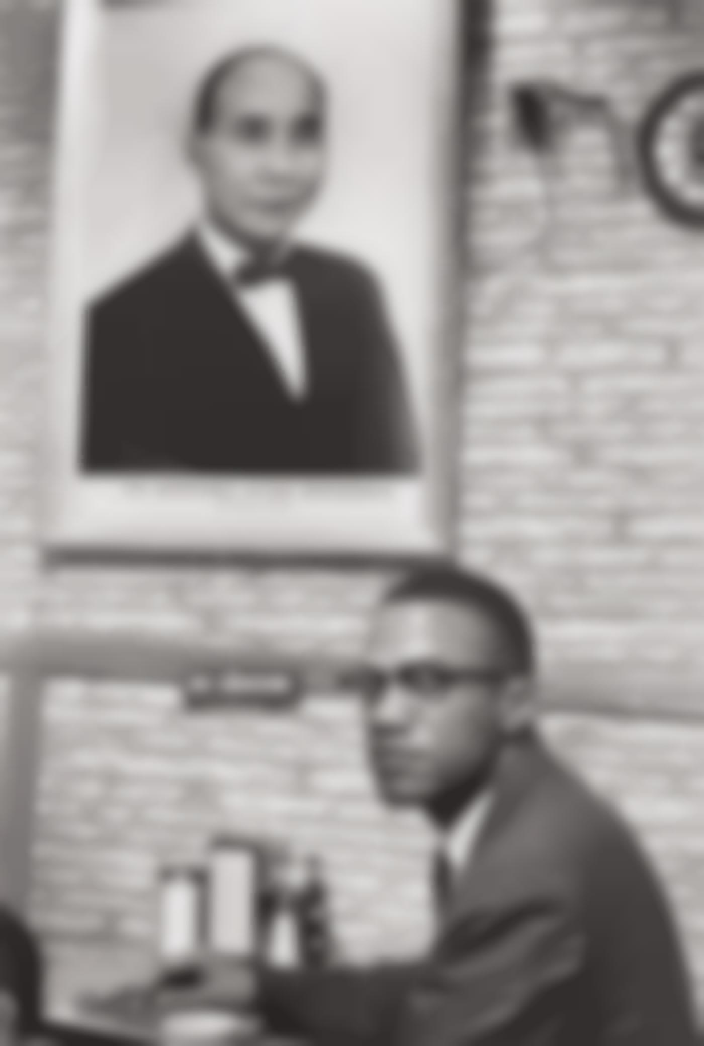 Henri Cartier-Bresson-Malcolm X, Harlem-1961
