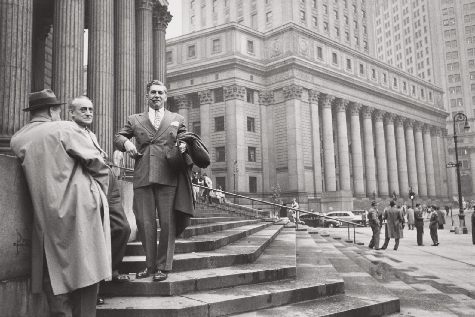 Henri Cartier-Bresson-Near The Hall Of Records, Manhattan-1947