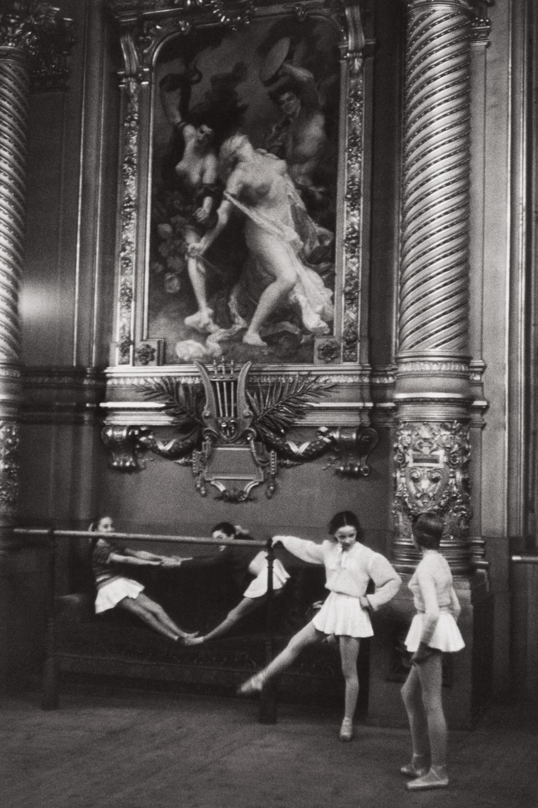 Henri Cartier-Bresson-Young Ballerinas, Palais Garnier Opera House, Paris-1954