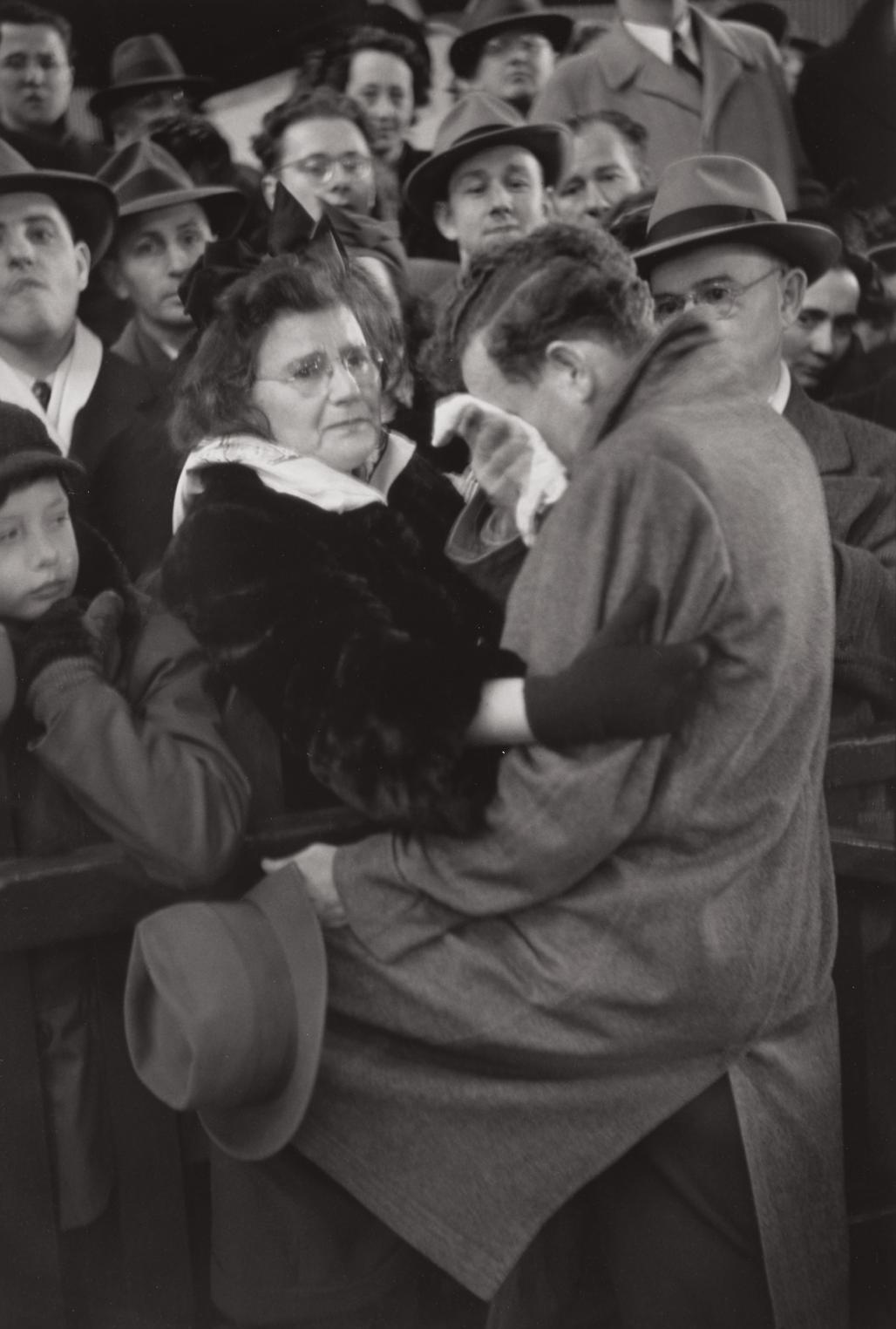 Henri Cartier-Bresson-A Mother Finds Her Son Who Had Been Separated From Her During The War, Manhattan-1946