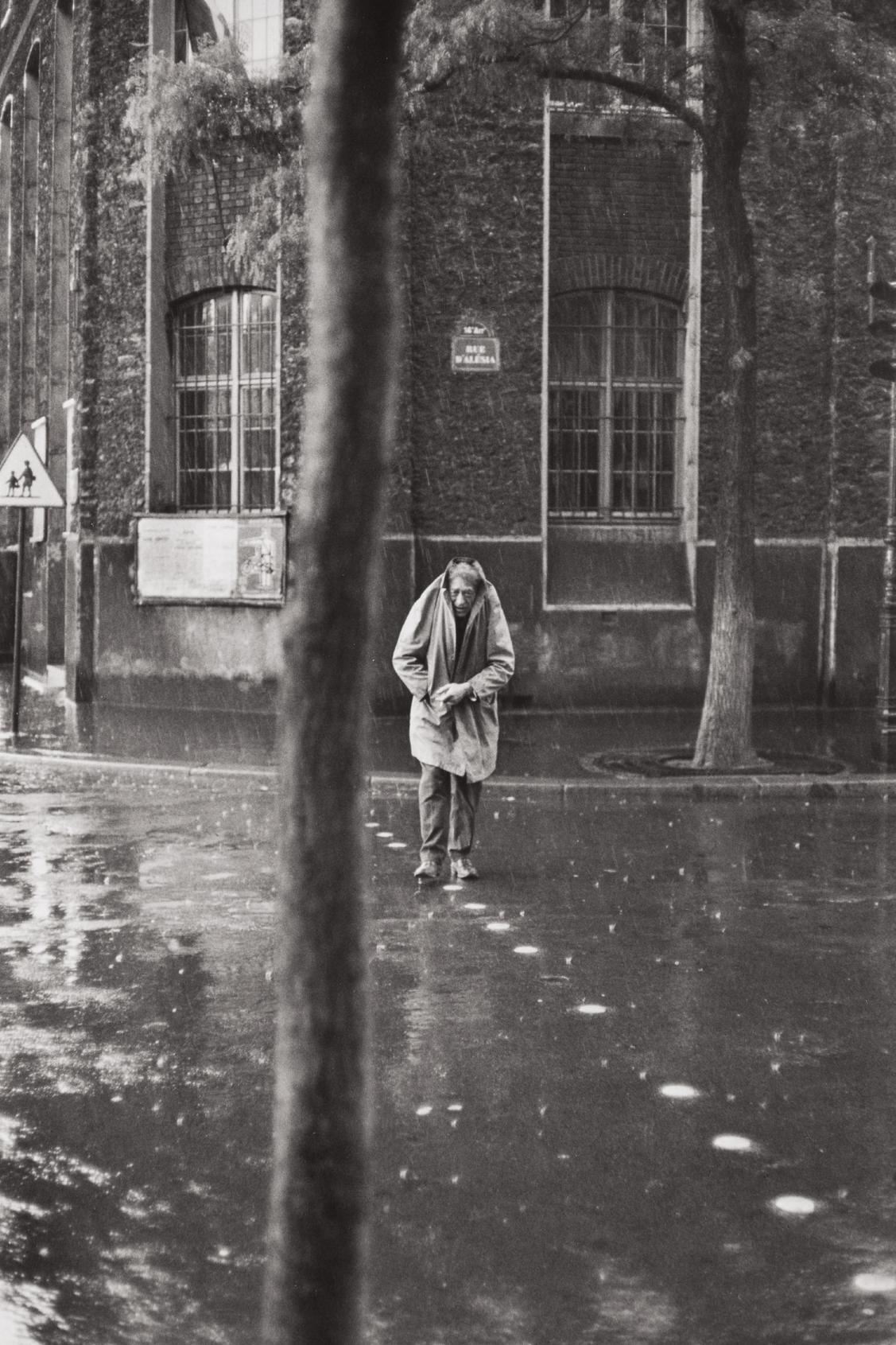 Henri Cartier-Bresson-Alberto Giacometti, Rue Dalesia, Paris-1961