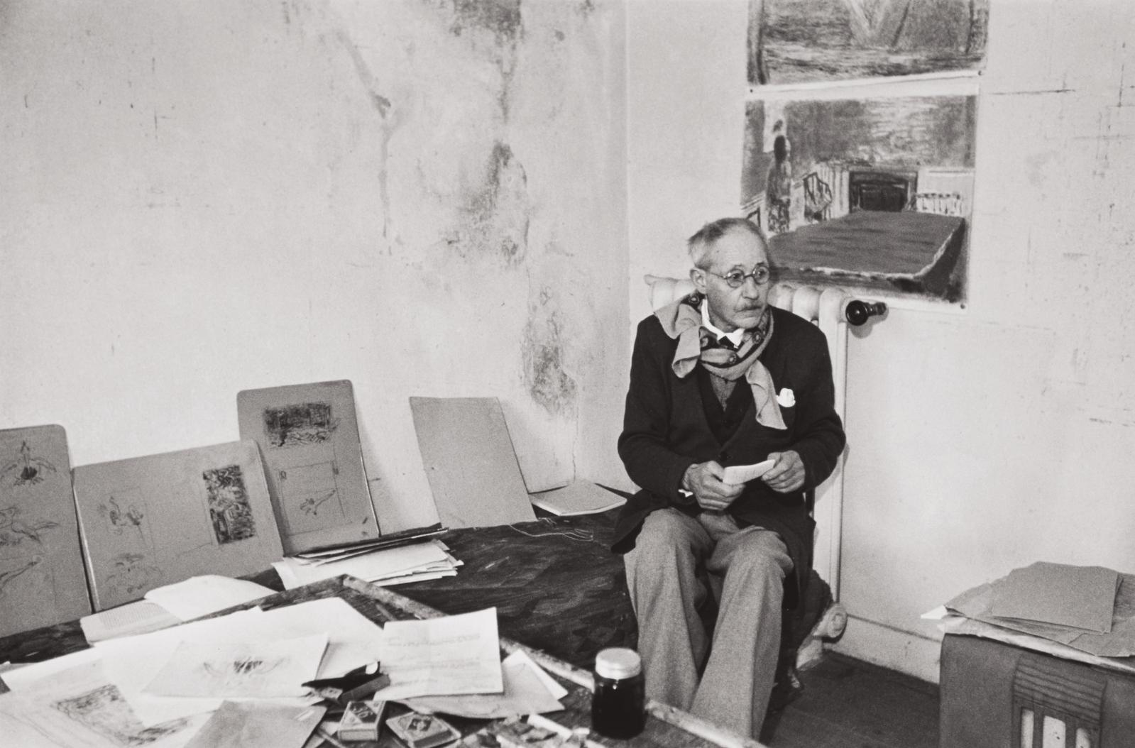Henri Cartier-Bresson-Pierre Bonnard, Le Cannet, France-1944