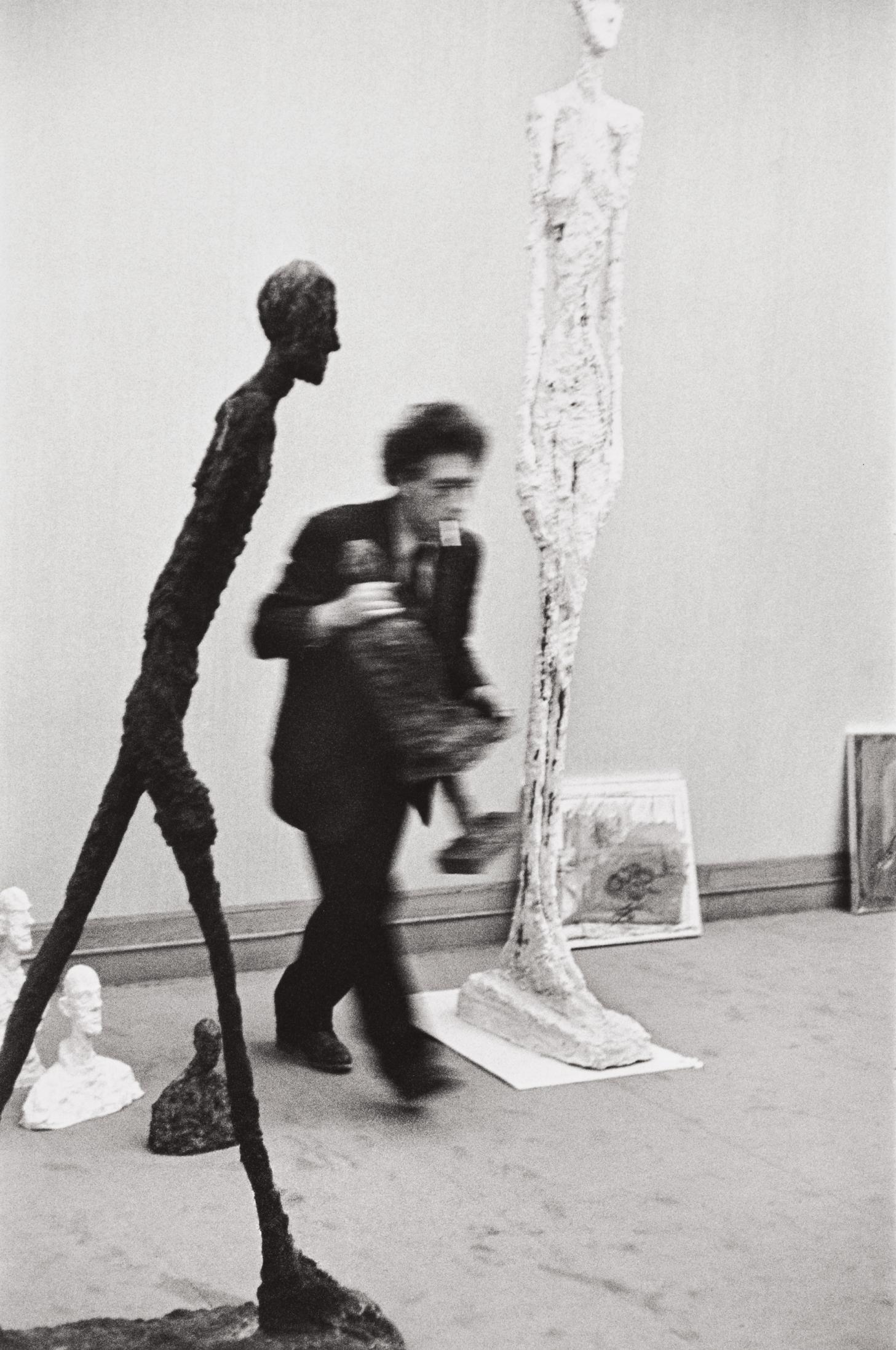 Henri Cartier-Bresson-Alberto Giacometti, Galerie Maeght, Paris-1961