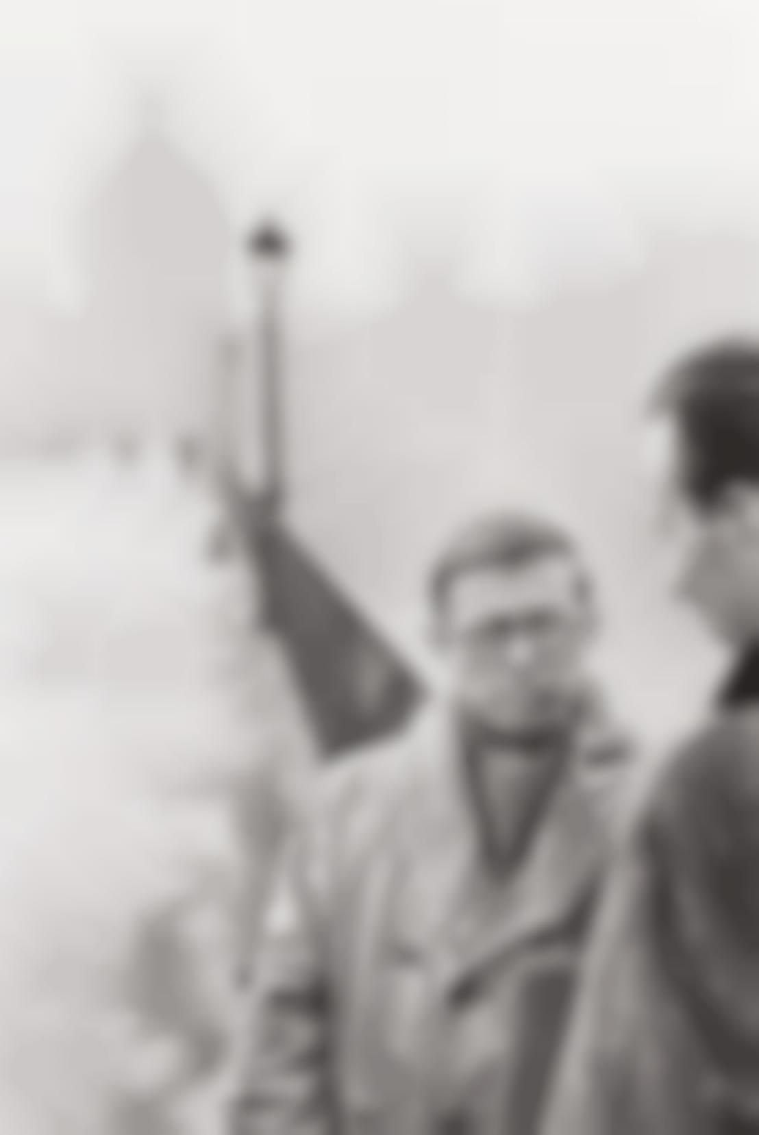 Henri Cartier-Bresson-Jean-Paul Sartre, Le Pont Des Arts, Paris-1946
