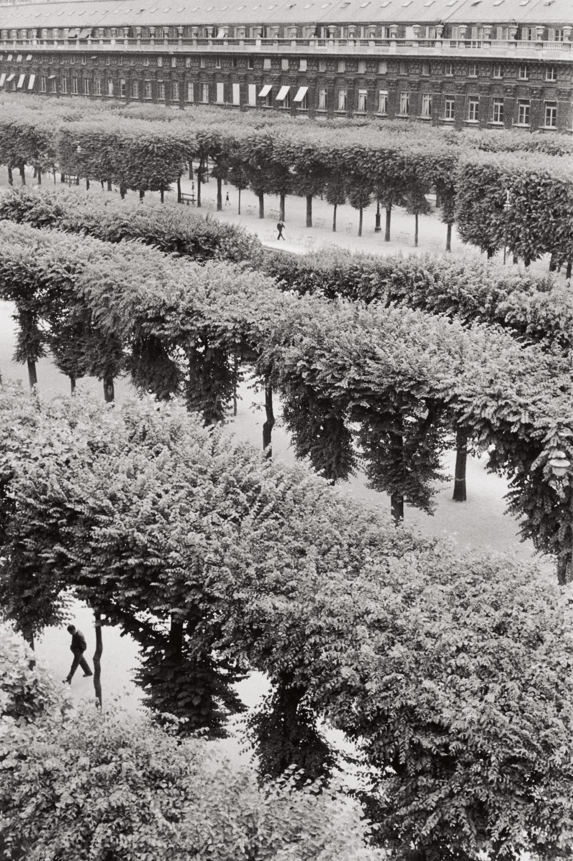 Henri Cartier-Bresson-Gardens Of The Palais Royal, Paris-1959