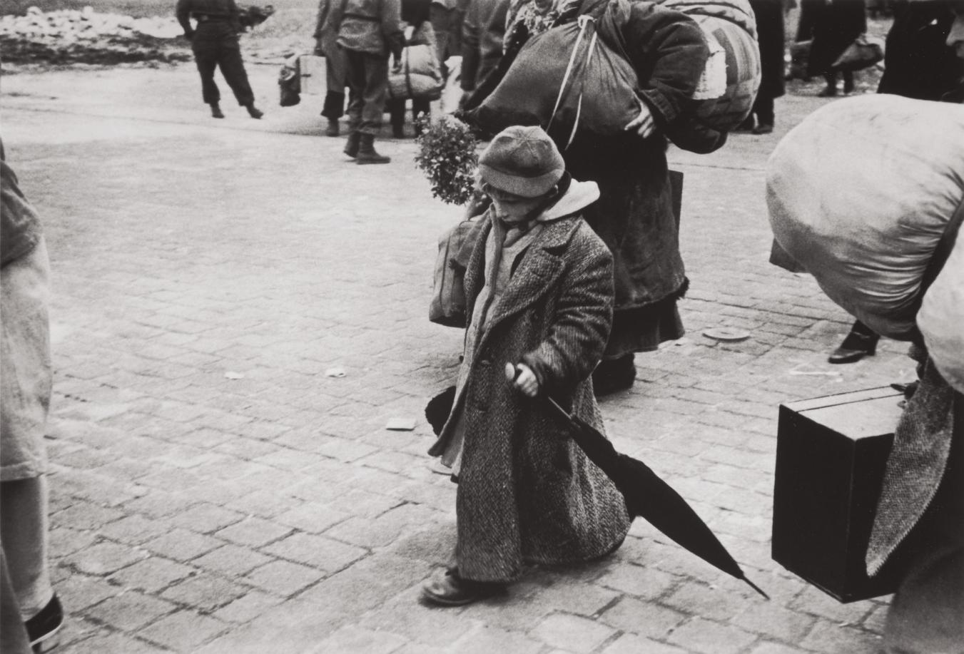 Henri Cartier-Bresson-A Soviet Child Who Was Deported With His Parents, Returning To His Homeland, Transit Camp, Dessau, Germany-1945