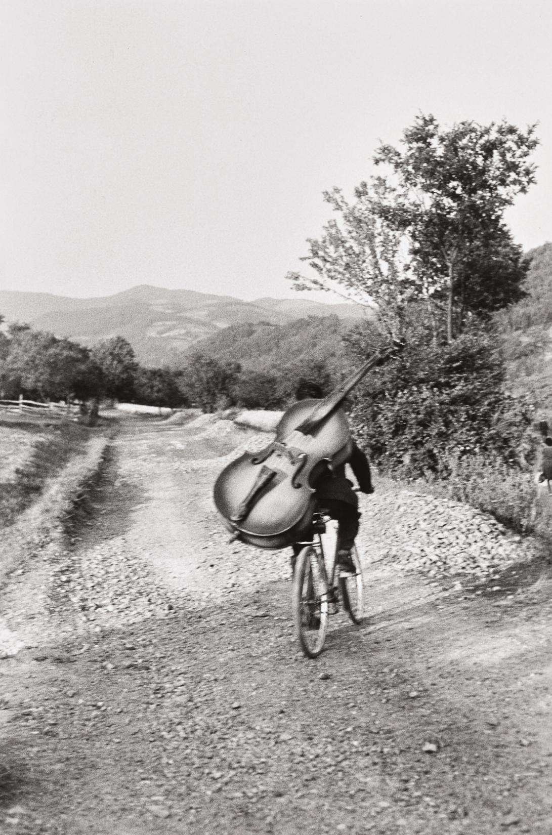 Henri Cartier-Bresson-Bass Player On The Road Belgrade-Kraljevo, To Play At A Village Festival Near Rudnik, Serbia, Yugoslavia-1965