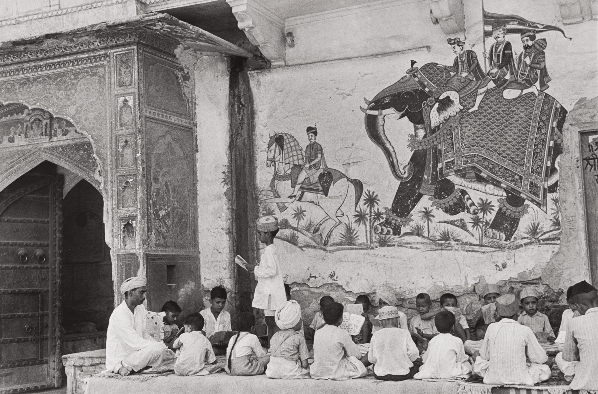 Henri Cartier-Bresson-Pavement School, Jaipur, India-1948