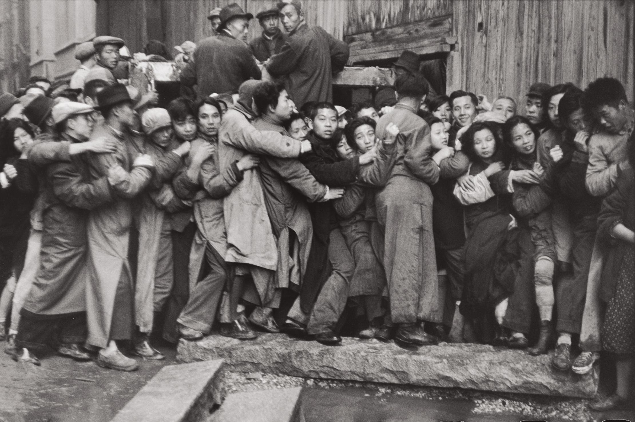 Henri Cartier-Bresson-The Last Days Of The Kuomintang (Market Crash), Shanghai, China-1949